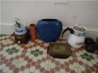 Cafetera vintage cerámica Corning Ware, Puerto Rico