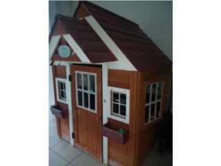 Casa de madera  4*3 para niñas , Puerto Rico