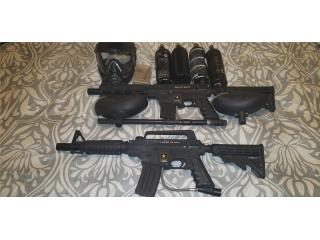 Dos pistolas Gotcha una Alpha black y una Project , Puerto Rico