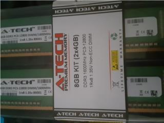 AData DDR3 8GB total, Puerto Rico