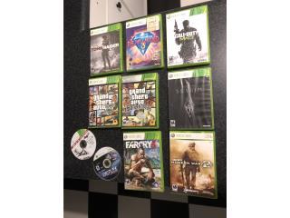 Xbox 360 10 juegos solo$25(fijo) , Puerto Rico