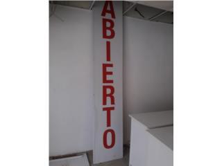 Rotulo de: ABIERTO, Puerto Rico