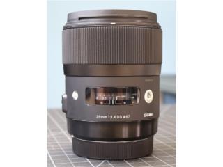 Sigma 35mm 1.4 Art Nikon F, Puerto Rico