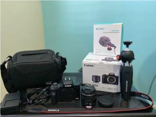 Cámara Canon EOS M50 con accesorios, Puerto Rico