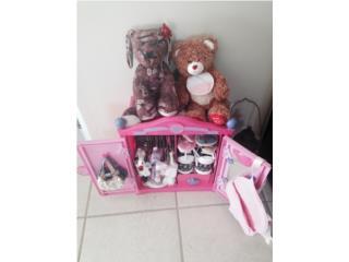 BuildaBear perro Jonás,oso,ardilla y accesori, Puerto Rico