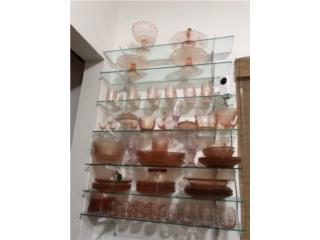 Coleccion Depression glass rosa, Puerto Rico