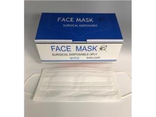 MASCARILLAS PROTECTORAS  Surgical Face Masks p/50, Puerto Rico