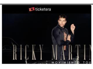 2  Boletos Ricky Martin, Puerto Rico