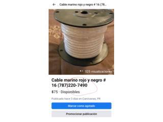 Cable marino #16 rollo 100 pies, Puerto Rico