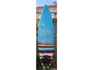 6'8 Bat Surfboard, Puerto Rico