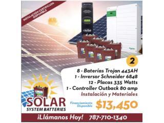 Sistema Solar Placas con Baterías , Puerto Rico