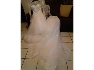 Vestido de Encaje-Manga Larga-Cola Catedral-Small, Puerto Rico