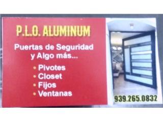 Puertas interiores en aluminio de 36×80 , Puerto Rico