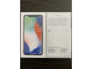 Apple Iphone X Silver Unlocked 256GB, Puerto Rico