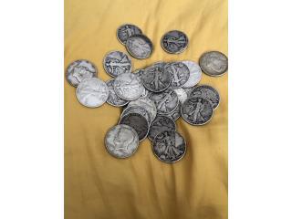 Monedas Plata Medio Dólar Walking Liberty $12c/u, Puerto Rico
