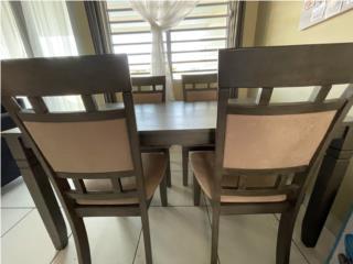 MESA COMEDOR 4 sillas 175$ Madera, Puerto Rico