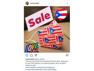 Mascarilla de Tela con Bandera de PR, Puerto Rico