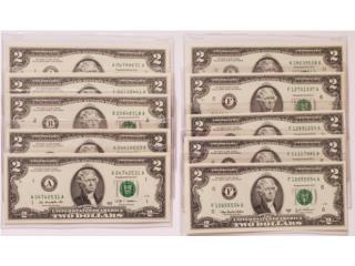 LOTE DE 10 BILLETES DE $2.00 SIN CIRCULAR, Puerto Rico