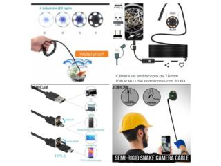 Mini camara 1080 con luz LED cable hasta 5 mts, Puerto Rico