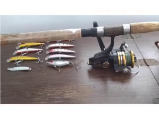 Caña de pescar ANDE con Rell marca Penn, Puerto Rico