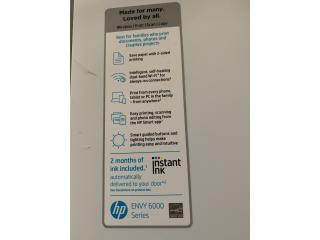 Printer HP envy 6000 con tintas $100, Puerto Rico