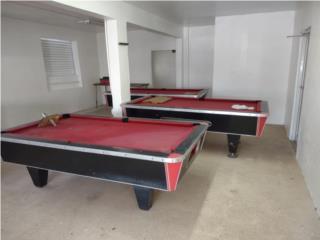 Tres mesas de billar, Puerto Rico