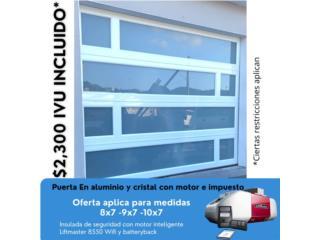 Puerta de garaje aluminio , Puerto Rico