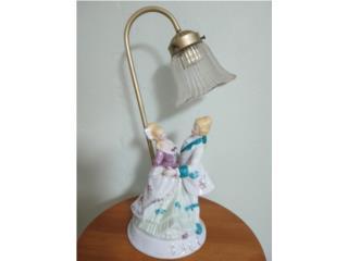 Antique porcelain lamp, Puerto Rico