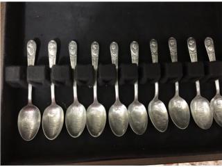 Colección de cucharas en plata , Puerto Rico