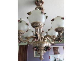 SE VENDE LAMPARA CAPODIMONTE DE 6 GLOBOS $650, Puerto Rico