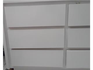 Gavetero blanco de nueve gavetas Juego cuarto, Puerto Rico