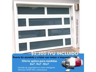 Puerta moderna en aluminio , Puerto Rico