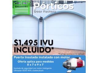 Puerta de garaje insulada, Puerto Rico