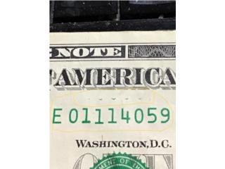 Billete $1. Con error. Y. Con estrella, Puerto Rico