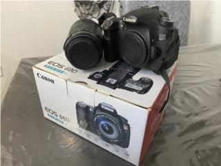 Cámara Canon 60D con lente EFS 18-135 $330!!!, Puerto Rico
