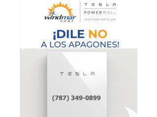 Energia solar con baterias TESLA, Puerto Rico