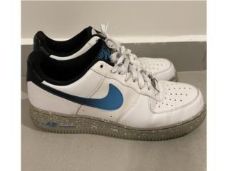 Nike Air Force 1 Azul Blanca Gris, Puerto Rico
