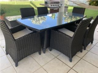 Combo de sala, comedor y bar stools de Patio, Puerto Rico
