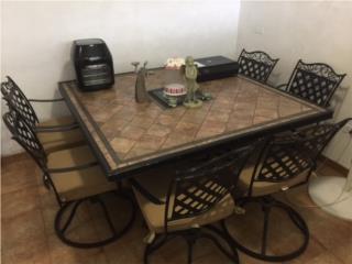 Juego de patio mesas y sillas, Puerto Rico