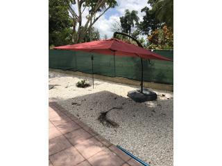 Sombrilla de exterior para patio o piscina, Puerto Rico