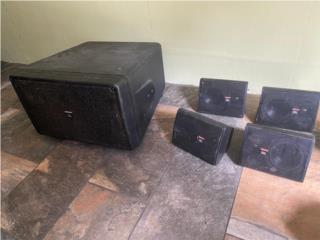 JBL Subwoofer and 4 Speakers, Puerto Rico