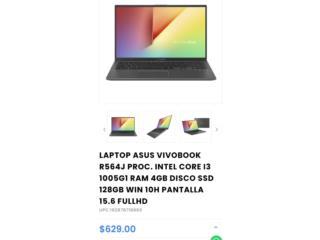 Laptop nueva en caja Asus i3 15.6full HD, Puerto Rico