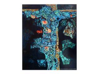Arte Cristo azul Augusto Marín , Puerto Rico