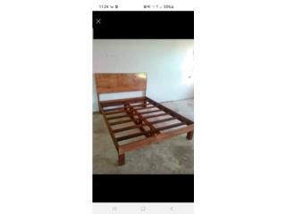 Se vende cama rústica queen nueva de platafor, Puerto Rico