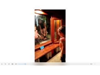 Espejo y coqueta en madera, Puerto Rico