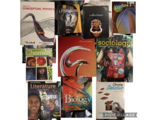 Libros fisica álgebra literatura biologia, Puerto Rico