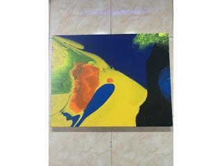 arte abstracto 11 x 14 , Puerto Rico