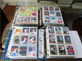 4 Sets Completos Cartas De Beisbol En Carpeta, Puerto Rico