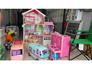 casa y guaguas de barbie y LOL, Puerto Rico