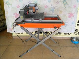 Ridgid 7in Wet Tile saw with Stand and extras, Puerto Rico
